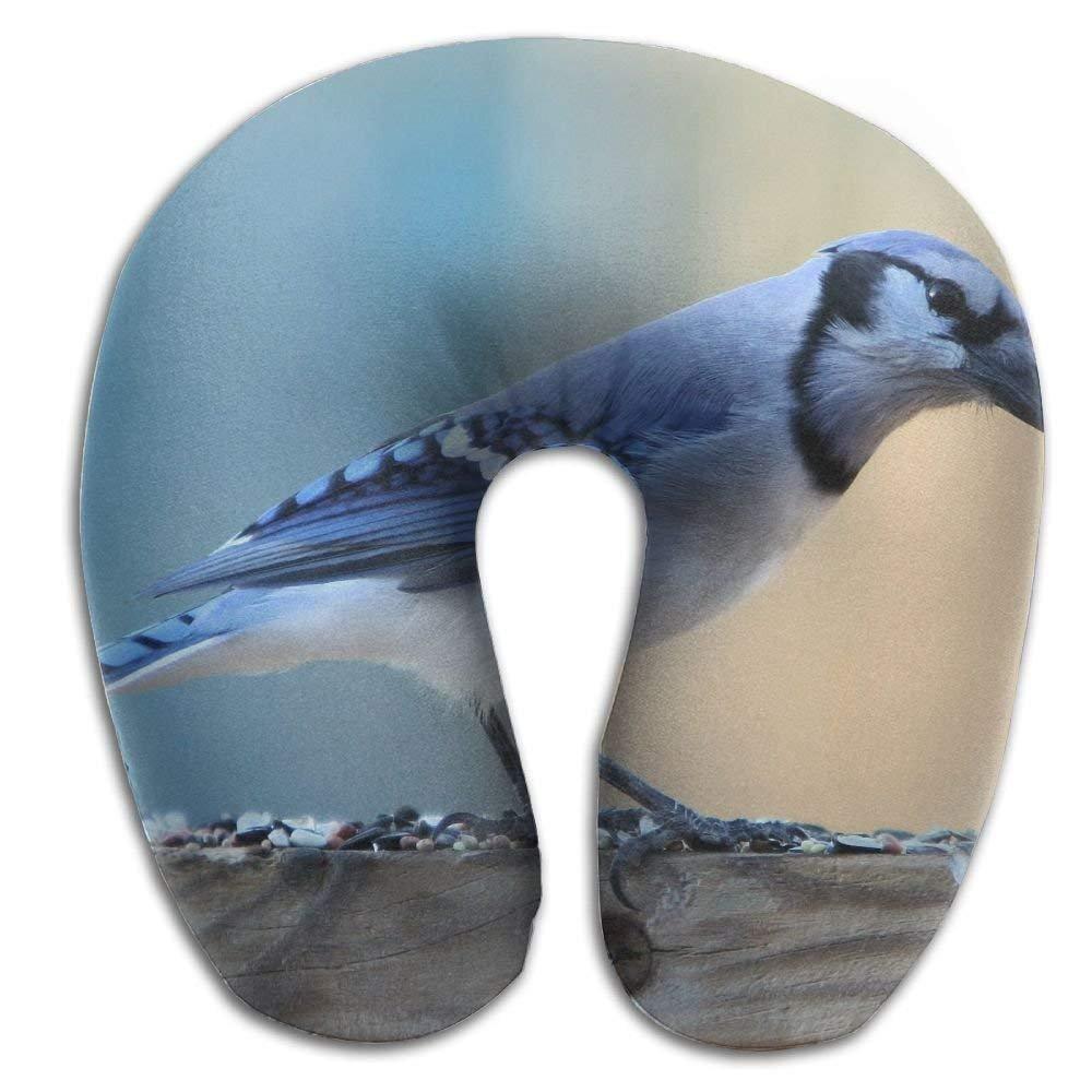 nuohaoshangmao Cute Bird On Wood Print U Shaped Pillow Memory