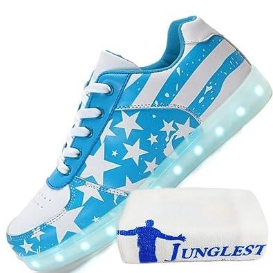 (Present:kleines Handtuch)Schwarz 42 EU Top Schuhe Licht Hohe Farbwechsel High LED Farben JUNGLEST Damen Licht Unise vFeijP