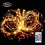 Aglaia Decorative Fairy String Light 15M 49ft, 150 LED Dimmable Waterproof Copper Wire Light, Warm White Lighting for Patio Christmas Wedding Party Garden Decora