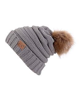 Liraly Wool Hats for Women Winter Womens Slouchy Beanie Hat Knit Warm Snow Ski Skull Cap(Gray)