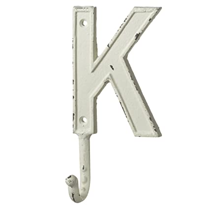 monogram letter k single wall hook painted cast iron 75 inch