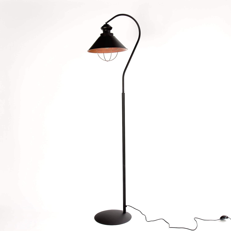 Stehleuchte Metall Industrie Design Braun Kupfer E27 Stehlampe