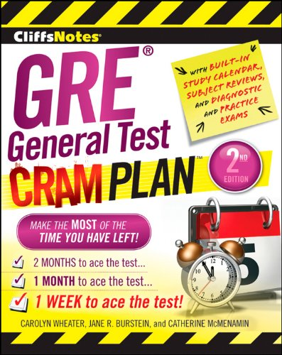 Pdf Reference CliffsNotes GRE General Test Cram Plan 2nd Edition (Cliffsnotes Cram Plan)