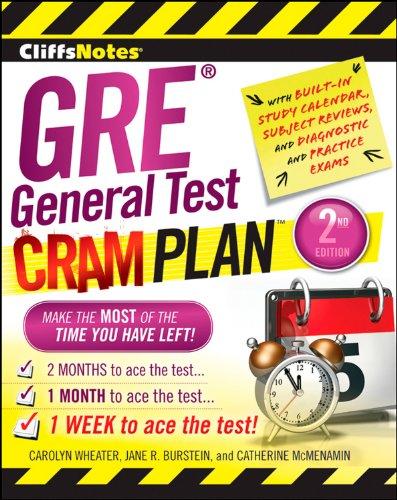 CliffsNotes GRE General Test Cram Plan 2nd Edition (Cliffsnotes Cram Plan)