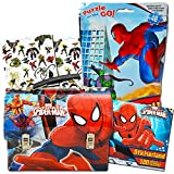 Marvel Spiderman Lunch Box Activity Set -- Deluxe Spider-Man Tin Lunchbox with Puzzle and 120 Stickers (Spiderman School/Party Supplies)