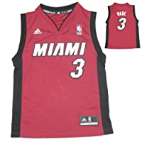 YOUTH NBA Miami Heat Wade #3 Pro Quality Athletic Jersey Top