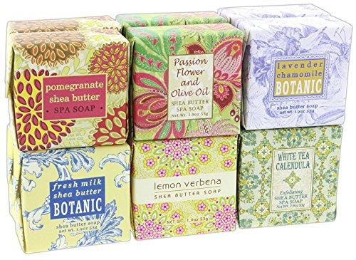 Bundle of 12 Greenwich Bay Botanic Shea Butter 1.9 Ounce Sampler Soaps