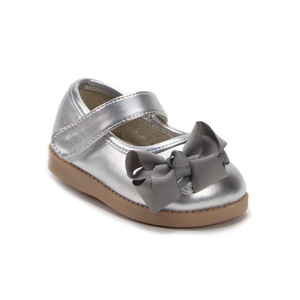Mooshu Trainers Toddler Girls Princess Bow Mary Jane Squeaker Flats Shoes