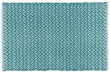 Now Designs 24 by 36 inch Diamond Weave Kitchen Mat, Teal Blue
