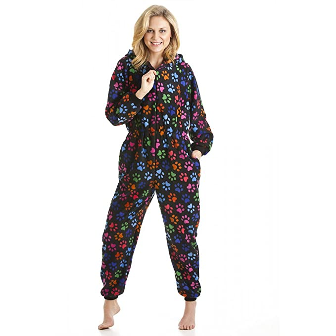 Camille - Pijama de una pieza para mujer - Estampado huellas de perro - Multicolor 42