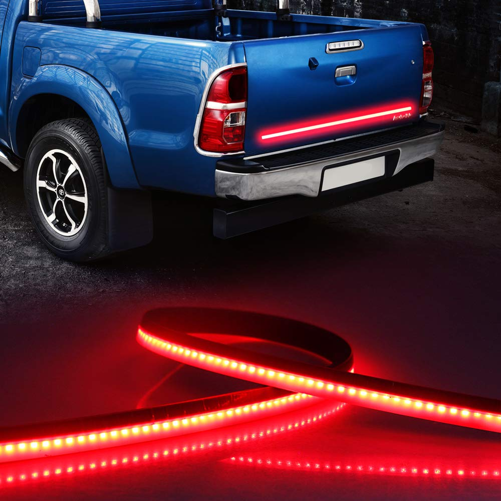 LEADTOPS 36 Inch Truck Tailgate Light Bar Red LED Flexible Strip Lights for Reverse Stop Turn Signal Running for Ford GMC Chevy Dodge Toyota Nissan Honda Truck SUV Trailer