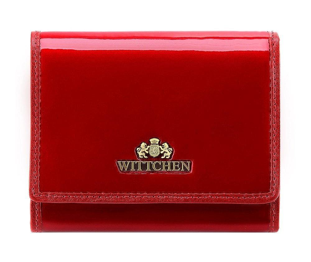 Wittchen Geldbörse | 9.5x12 cm | Lackleder, rot | Handmade, Kollektion: Verona - 25-1-070-3