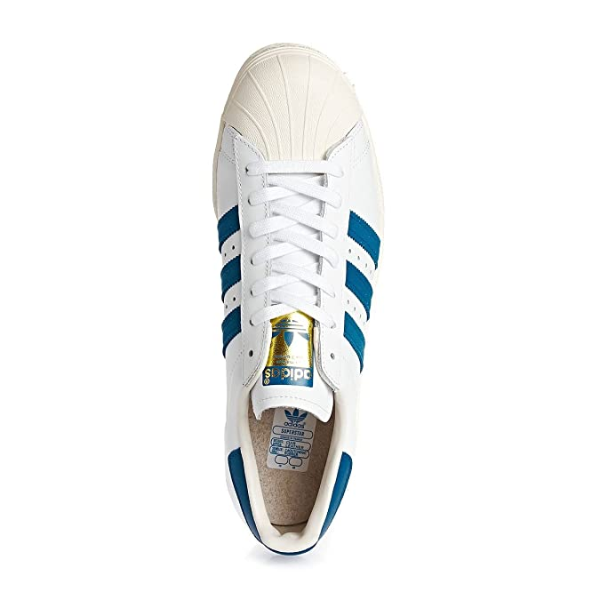 adidas Originals Superstar 80s Formateurs Blanc G61068, Taille:46