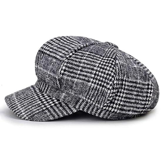 134b015c70574 Blmusi Newsboy Beret Hat for Women Cabbie Hats Fall Visor Cap Paperboy  Painter Hat Light Gray  Amazon.ca  Clothing   Accessories