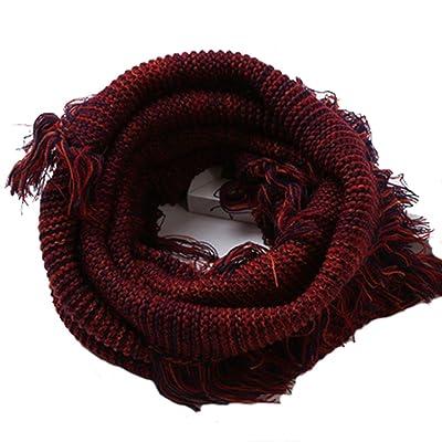 Aiklin Echarpe Cercle en Tricot à Crochet Twist Foulard Hiver pour