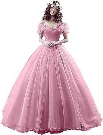 Medieval Blush Fairy Princess Bridal Wedding Dress Off-Shoulder Wedding Gowns