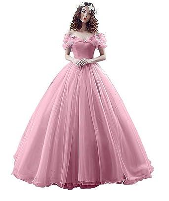 14633e9c33e XIA Women s Off Shoulder Princess Costume Ball Gown Butterflies Cinderella  Quinceanera Dress Long