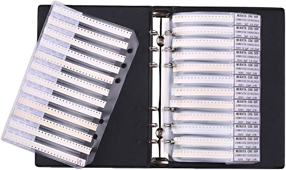 Sample Book 0201 0402 0603 0805 1206 Resistor Kit SMD SMT Chip Resistor Fesjoy SMD Capacitor Assorted Kit
