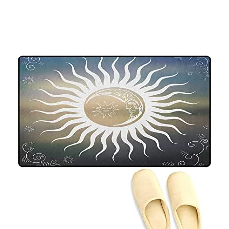 Amazon.com : zojihouse Sun Door Mats Area Rug Celestial ...