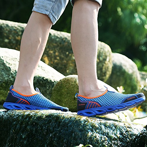 Swimming Sports Dry Royal Aqua Trainer Surf Water Sneaker Beach Pool Men's Women's Toggle Socks On Blue VILOCY Shoes Sea Walking Slip Mesh Breathable Quick fqFC7