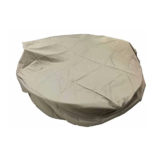 Dola Outdoor Round Dining Patio Furniture Cover in Beige All Weather Patio Furniture Round Cover Rain Proof 3-Layers Thick Fits Up to 90 X 31.5 inches