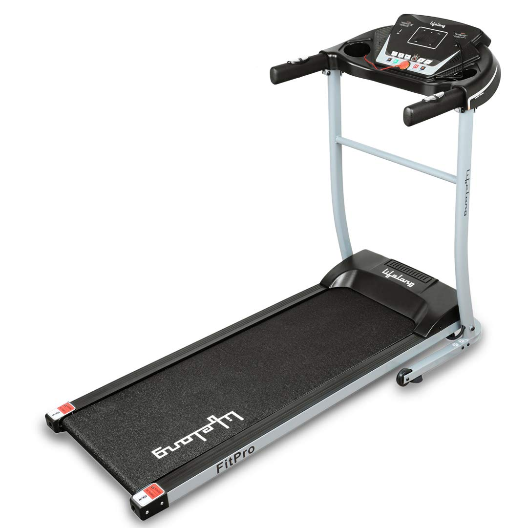 Lifelong FitPro (2.5 HP Peak) Motorized Treadmill with 12 preset Workouts (Free Installation Assistance)