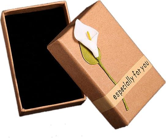 Chytaii - 2 cajas de regalo para joyas, caja de presentación para collar, anillo, pendientes, pendientes, joyas,