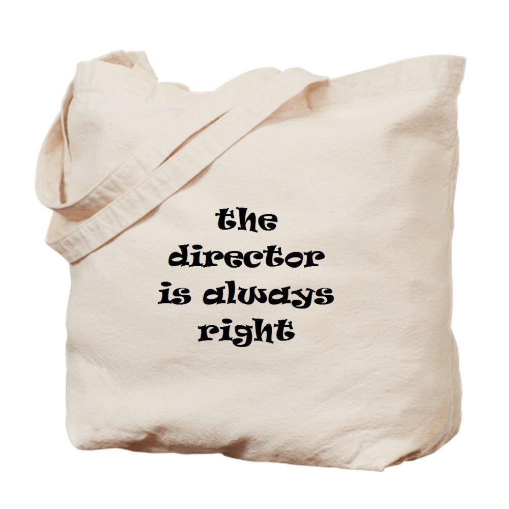 CafePress – Director常に右 – ナチュラルキャンバストートバッグ、布ショッピングバッグ B01LSWBMUK