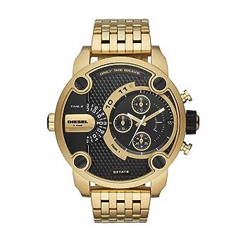 Amazon.com: Diesel Mens Little Daddy Quartz Watch with Stainless-Steel Strap, Gold, 23.5 (Model: DZ7412: Watches