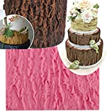 Anyana Fondant Impression Mat 7.3 inch Tree Bark texture tool silicone imprint mold icing candy embosser mould gumpaste cake decorating sugarcraft Wood Panel tools lumberjack
