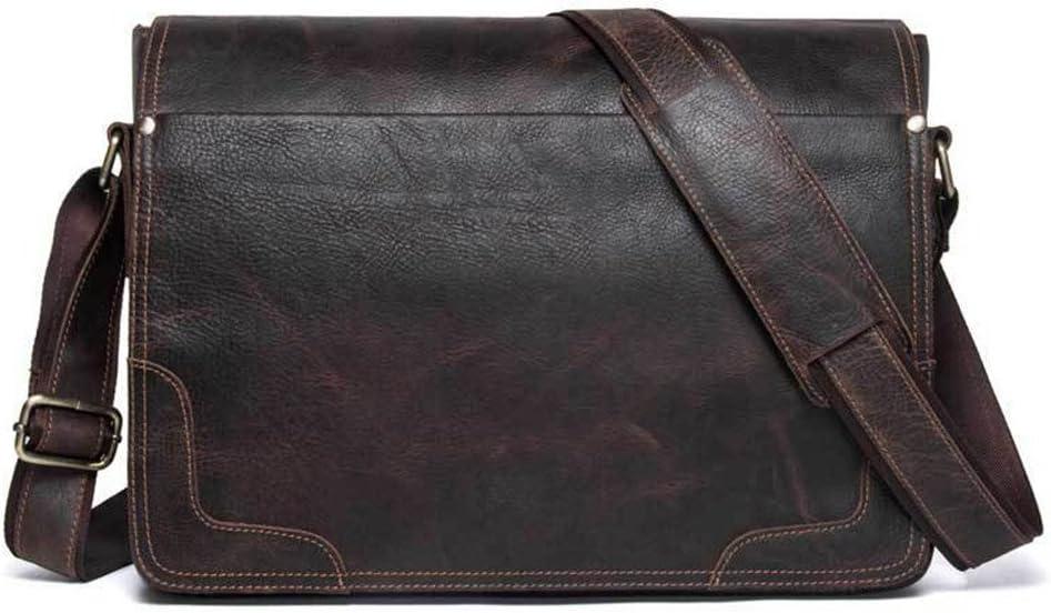 Short-Distance Travel Bag Large Capacity Business Bag Computer Laptop Bag Briefcase Sports Fitness Bag Leather Briefcase Waterproof Slung Leather Retro Bag