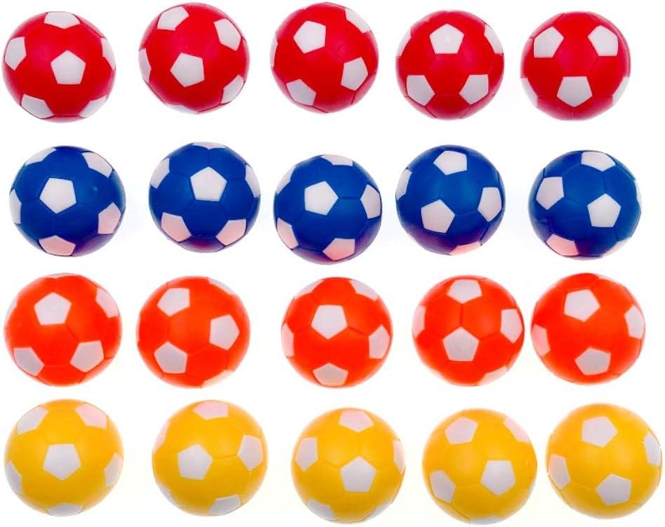 JZK 20 Piezas 36 mm plástico Multicolor Mesa futbolín balones ...