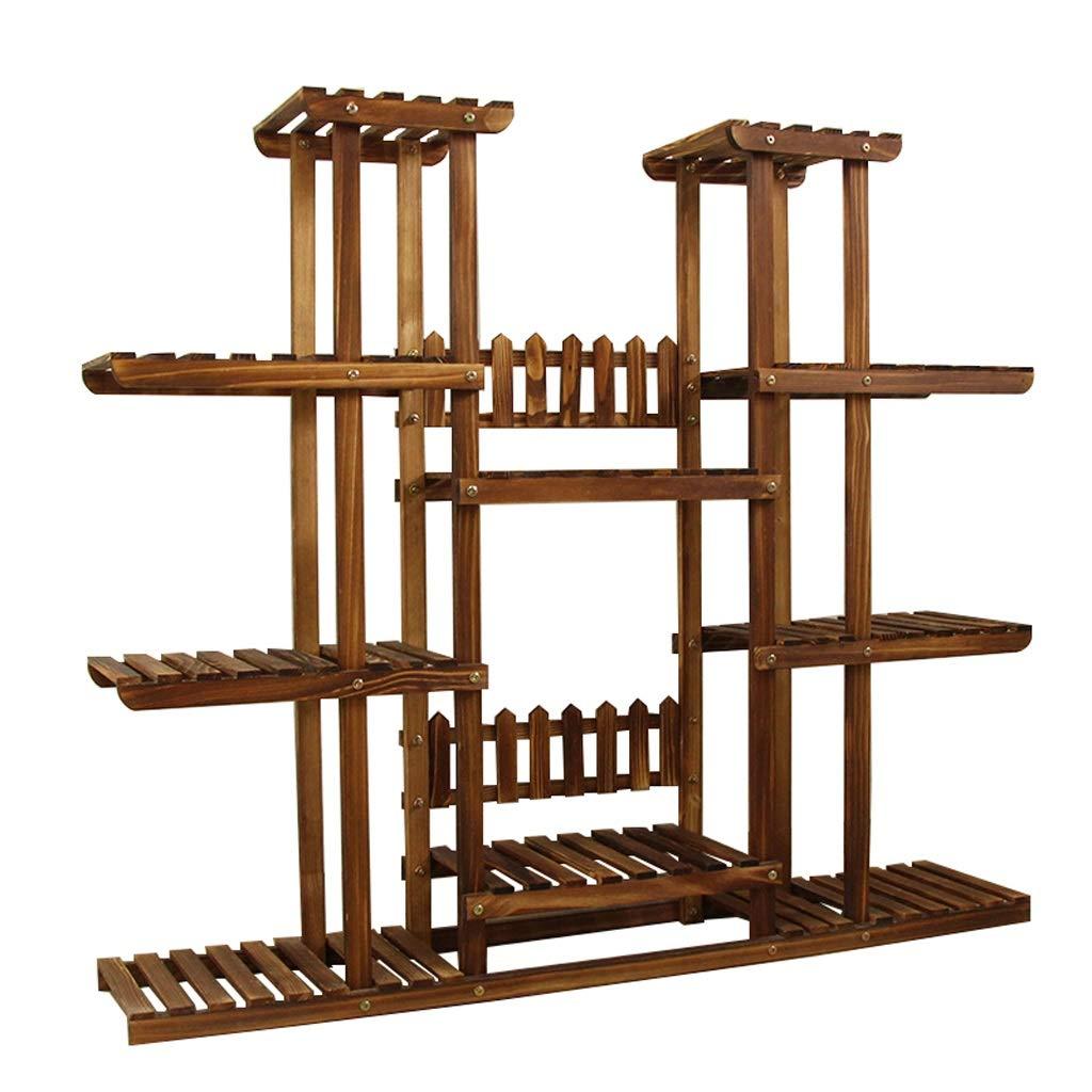 屋内多層フラワースタンド木製多機能ディスプレイスタンドフロアタイプラージクリエイティブ屋外屋内プラントスタンド B07QB6CZ11