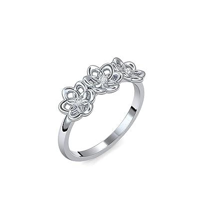 Verlobungsring Blume Weissgold Ring Diamant 585 Inkl Luxusetui