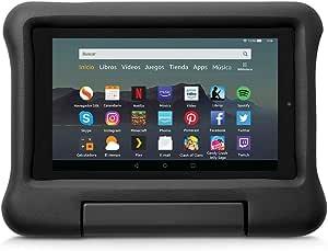 Funda infantil para tablet Fire 7 (compatible con la 9.ª generación - modelo de 2019), negro