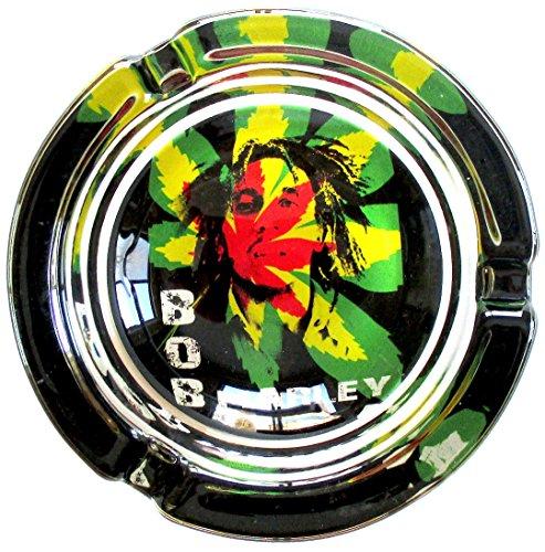 Bob-Marley-Psychedelic-Marijuana-Weed-Round-Glass-Ashtray