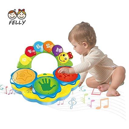 Tambour Musicale Jouet Pour Les Bebes De 6 A 12 Mois Jouet De L Education Precoce Jouet Musical Tambour De Jeux Jouet Pour Les Enfants De 1 2 Et 3