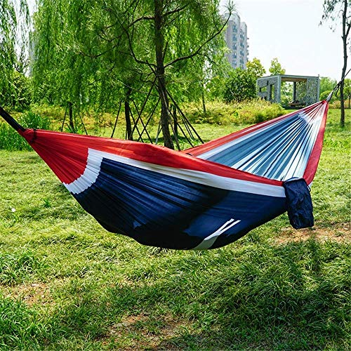 Hammock Outdoor Swing Canvas Adult Children Single Camping Indoor 300kg Load 270140cm 2 X Advanced Carabiner 2 X Nylon Sling