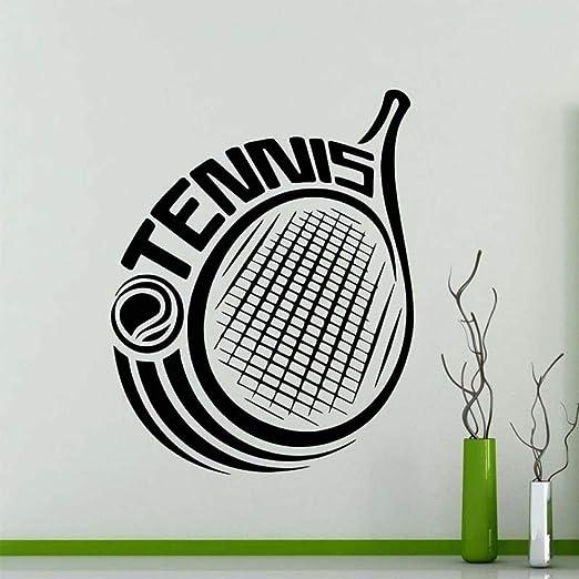 zqyjhkou Sports Tennis Logo Pegatinas de Pared para Gimnasio Art ...