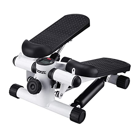 KUOKEL Title Mini Stepper,Mini Fitness Exercise Machine-Mini Elliptical Foot Pedal Stepper, Step Trainer Equipment with Resistance Bands Durable Safe Treadmill and Comfortable Foot Pedals