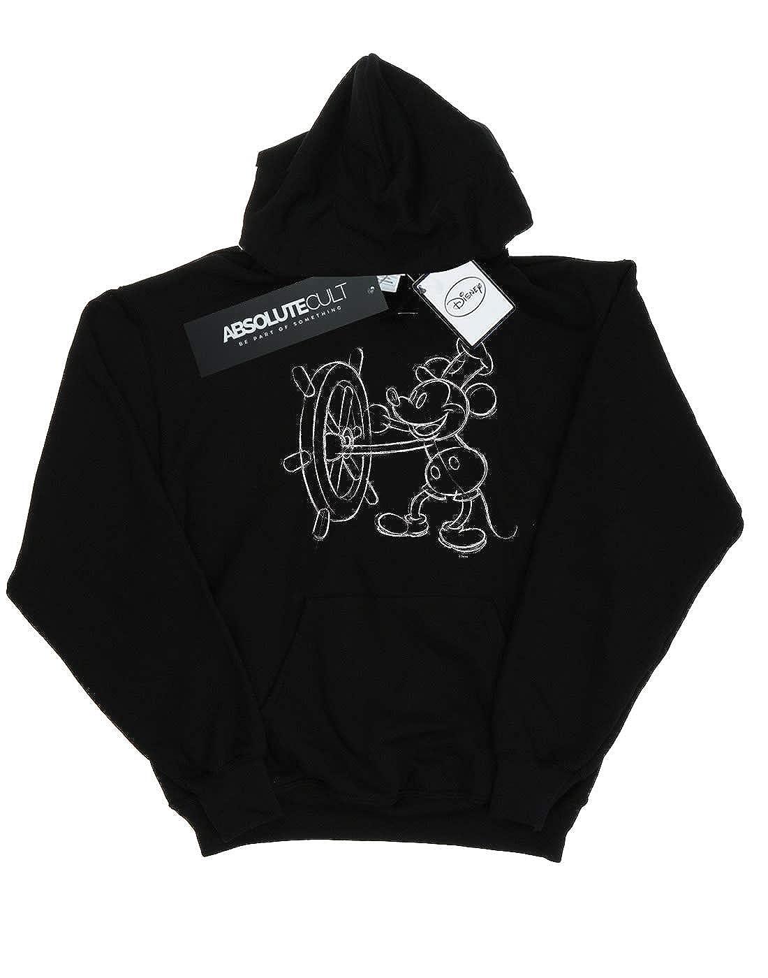 Disney Girls Mickey Mouse Steamboat Sketch Hoodie