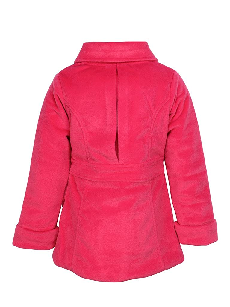 60b1f2488 Cutecumber Girls Pink Coat Fabric Jacket: Amazon.in: Clothing ...