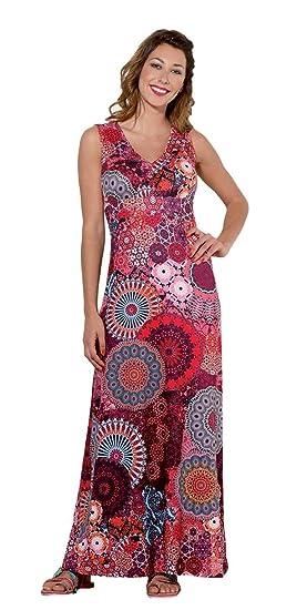 détaillant en ligne d7cfb d4b8b Coline - Robe Longue colorée: Amazon.fr: Vêtements et ...