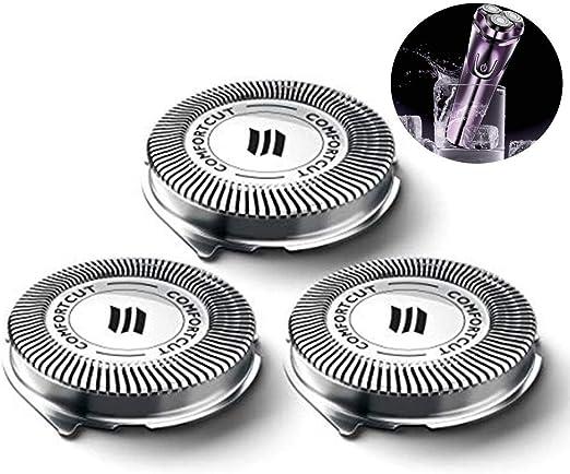 Cokeymove Reemplazo Cabezales de Repuesto de la afeitadora eléctrica para la Serie Philips Norelco 3000, Cuchilla de Repuesto SH30 / 52: Amazon.es: Hogar
