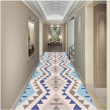 Jcy 3D Alfombras dPasillo Antideslizante para Corredor Sala Estar Dormitorio Cocina Escalera Salón Patrón Geométrico,Personalizable (Color : Blue, Size : 0.9x1m): Amazon.es: Hogar