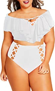 Kisscynest Women's Plus Size Off The...