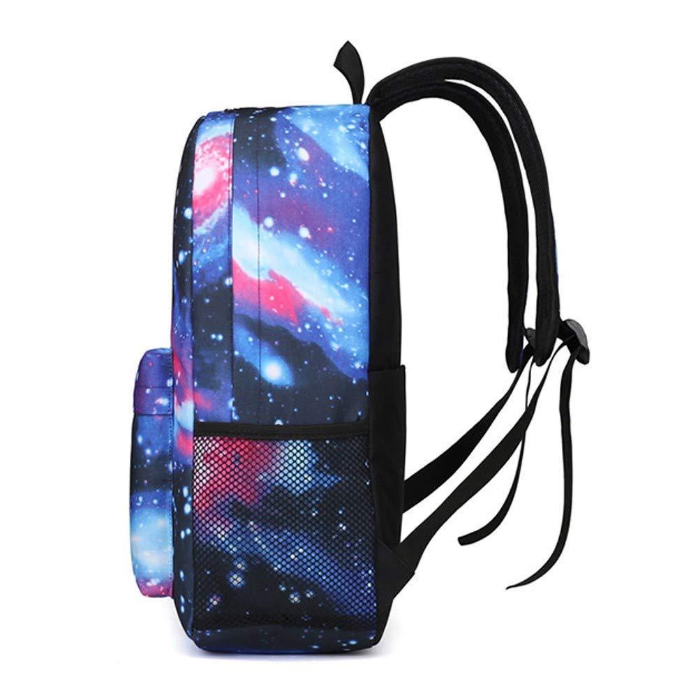 FORTR Home Frauen Männer Galaxy Galaxy Galaxy Print Schultasche Reißverschluss Reise Wandern Tasche Unisex Lässige Nylon Rucksack Sammlung Leuchtende Tasche (Farbe   F) B07PY6NSYL Daypacks Super Handwerkskunst d85cd8