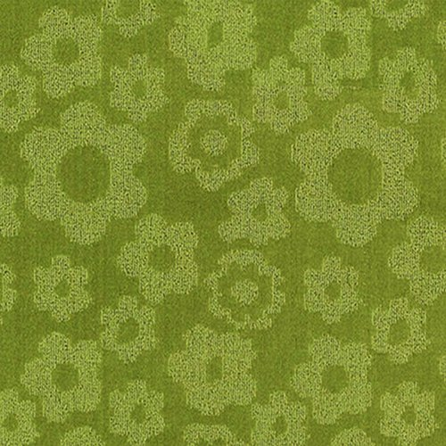Garland Rug Flowers Area Rug, 5-Feet by 7-Feet, Lime