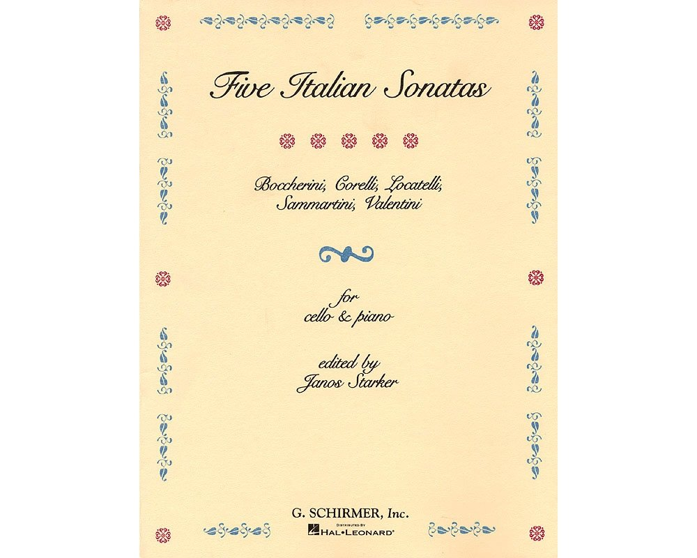 Download G. Schirmer 5 Italian Sonatas (Cello and Piano) String Solo Series Composed by Various Edited by E Starker PDF