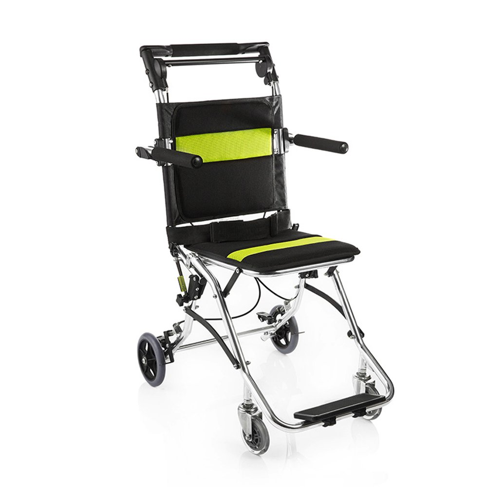 yuwell Portable Folding Travelling Wheelchair,Ultra LightWeight Transport Wheelchair for The Elderly and Children